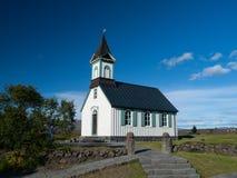 Pingvallkirkja church in Thingvellir Stock Photography