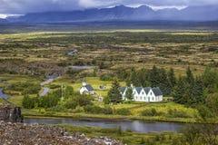 Pingvellir è un sito dei sig storici, culturali e geologici Immagine Stock