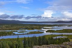 Pingvellir è un sito dei sig storici, culturali e geologici Immagine Stock Libera da Diritti