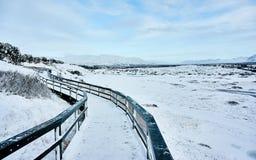 Pingvellir самый старый национальный парк в Исландии стоковое изображение