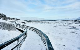 Pingvellir het oudste Nationale Park in IJsland stock afbeelding