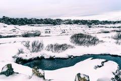 Pingvellir Naitonal Park. Winter landscape in Pingvellir national park, Iceland stock images