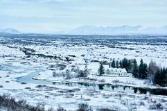 Pingvellir National Park in Iceland. Pingvellir the oldest National Park in Iceland, place of birth for the first democratically elected parliament in the world Stock Image