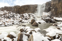 Pingvellir Waterfall Iceland Royalty Free Stock Image