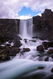 Pingvellir waterfall in national park - Iceland Stock Image
