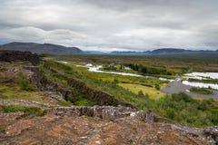 Pingvellir, West-IJsland Stock Afbeelding