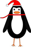 pingvin för tecknad filmjulillustration Arkivbild