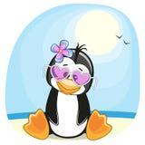 Pingvin på stranden Fotografering för Bildbyråer