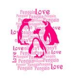 Pingvin som skrivar ut, unget-skjorta tryck royaltyfri illustrationer