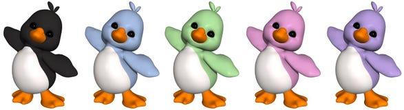 pingvin toon royaltyfri illustrationer
