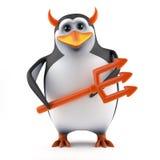 pingvinet 3d frestar dig Fotografering för Bildbyråer