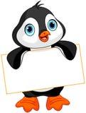 Pingvintecken royaltyfri illustrationer