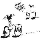 Pingvinvalentin Royaltyfri Bild