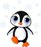 pingwin śliczna zima Obraz Royalty Free