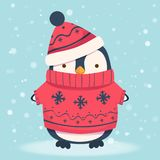 Pingwin kreskówki ilustracja 1 Zdjęcie Royalty Free