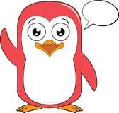Pingwin maskotka z pustym dialog balonem Zdjęcie Royalty Free
