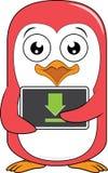 Pingwin maskotki ściąganie Obrazy Royalty Free