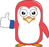 Pingwin maskotki kciuk up Zdjęcia Stock