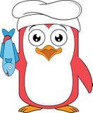 Pingwin maskotki szef kuchni Zdjęcie Stock