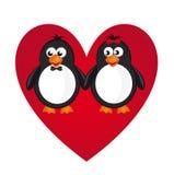 Pingwin miłość Zdjęcia Stock