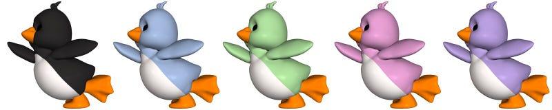 pingwin Toon royalty ilustracja