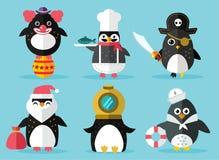 Pingwin ustalona wektorowa ilustracja Fotografia Royalty Free