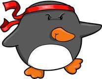 pingwin wojownik royalty ilustracja
