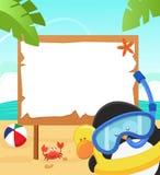 Pingwin Z Snorkel royalty ilustracja