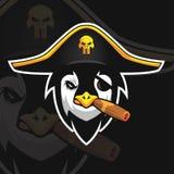 Pingwinu e sporta logo royalty ilustracja