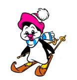 Pingwinu narciarstwo Obraz Stock