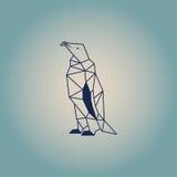 Pingwinu poligonalny projekt Zmrok - błękitny koloru wektor z tłem Obraz Royalty Free
