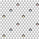 Pingwinu wzór Zdjęcia Stock