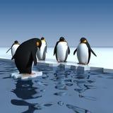 pingwiny Royalty Ilustracja