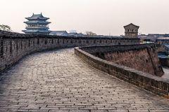 Pingyao ściana, Chiny zdjęcia royalty free