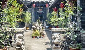 Pingyao Ancient City architecture and ornaments, Shanxi, China.  stock image