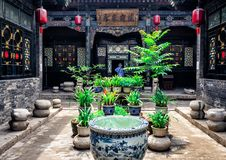 Pingyao Ancient City architecture and ornaments, Shanxi, China royalty free stock images