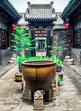Pingyao Ancient City architecture and ornaments, Shanxi, China royalty free stock photos