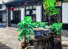 Pingyao Ancient City architecture and ornaments, Shanxi, China stock photos