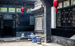 Pingyao Ancient City architecture and ornaments, Shanxi, China stock photo