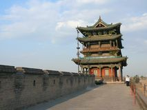 Pingyao ancient city wall Stock Images