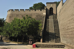 Pingyao ancient city wall Stock Image