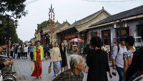 Pingyao county street Royalty Free Stock Images