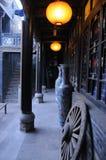 pingyao för hörnborggård en arkivfoto