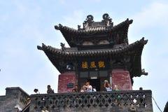 Pingyao forntida stad, Kina arkivfoto