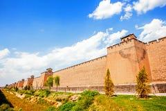 Pingyao miasta ściana Zdjęcia Stock