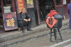 Pingyao oude stad van kleine onderneming Stock Fotografie