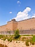 Pingyao plats-stad vägg arkivfoto