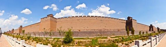 Pingyao plats-stad vägg royaltyfri fotografi