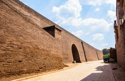 Pingyao scene-City gate and wall Royalty Free Stock Images