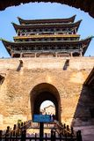 Pingyao scene-Gate tower Stock Images